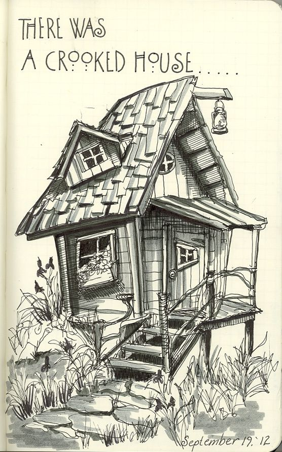 Crooked House 091912 Drawing Pinterest