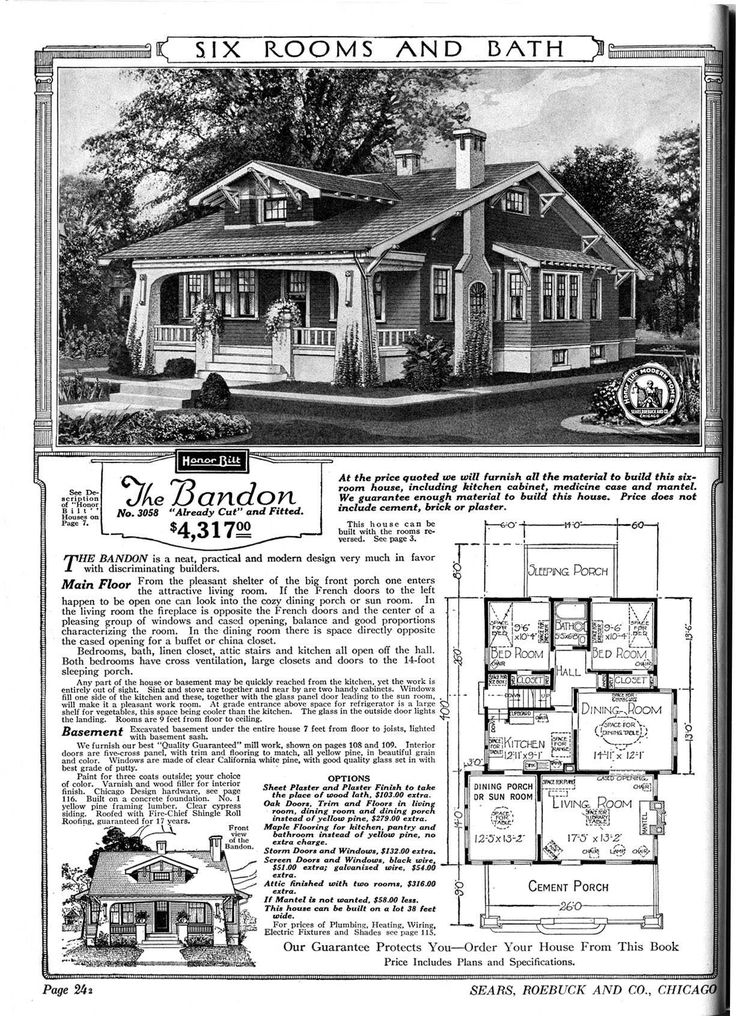 Sears catalog home the bandon bungalows and cottages for 1920 house plans