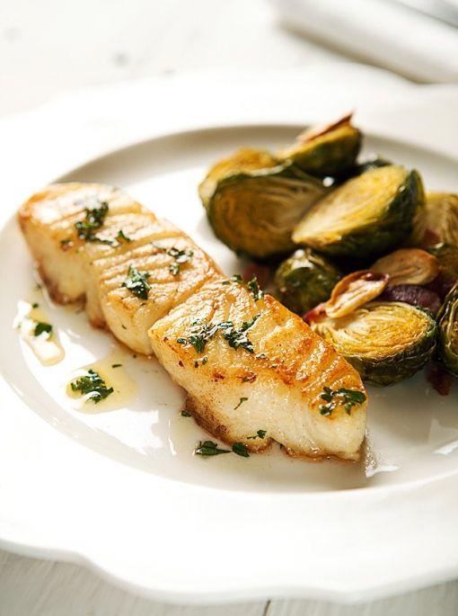 Lemon Butter Sauce Sea Bass ~ 400 grams of sea bass (372.00 calories ...