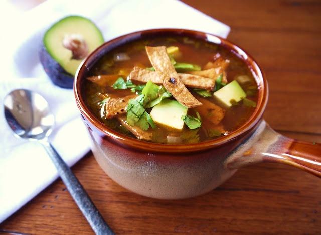 vegan tortilla soup | Add a Little Tex-Mex to Your Life | Pinterest