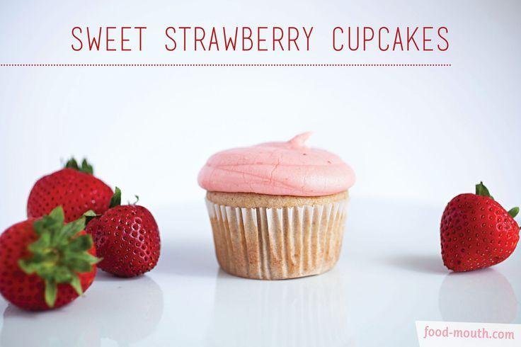 Sweet Strawberry Cupcakes   food.   Pinterest