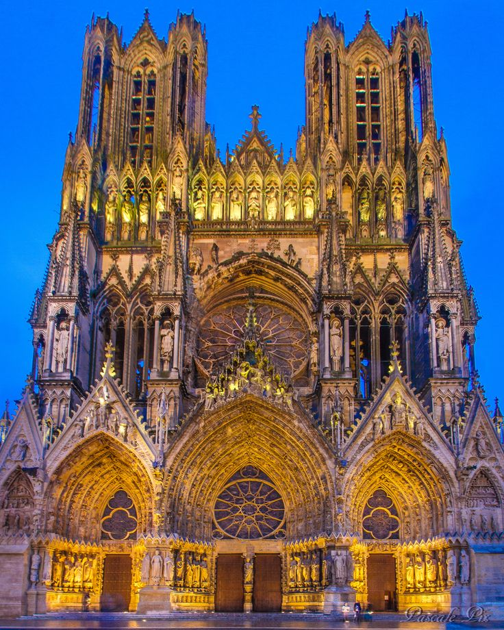Reims: Cathedral of Notre-Dame, Former Abbey of Saint-Rémi and Palace of Tau (UNESCO) - Reims, Marne, Champagne Ardenne, France