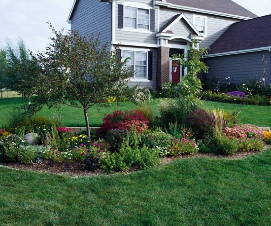 Before and after garden makeovers for Corner landscape plans