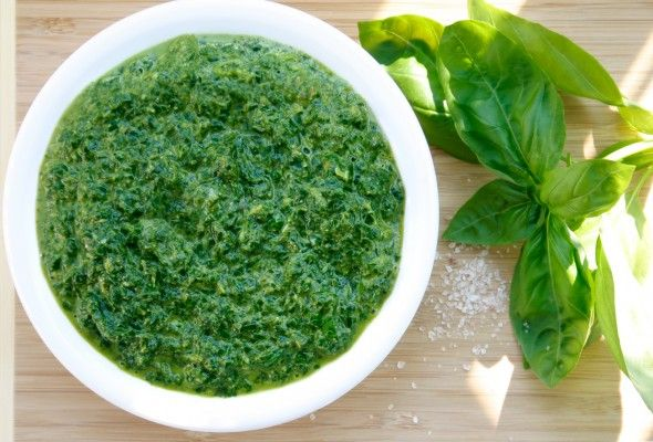 Vegan Basil Pesto | what to eat | Pinterest
