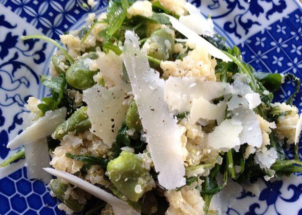 fava bean, arugula & quinoa salad recipe from Washington's Green ...