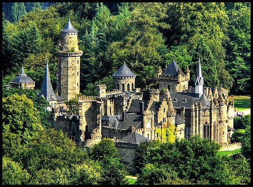 Löwenburg - Fairy tale castle.  Kassel - Wilhelmshöhe.  Lion`s castle.