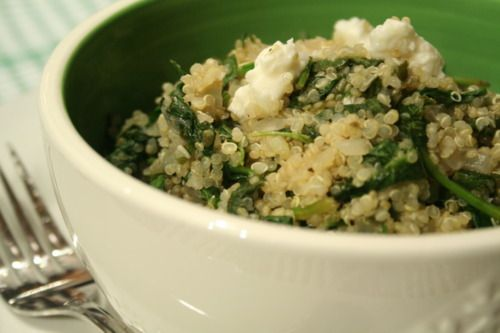 Spinach, Feta, and Quinoa salad