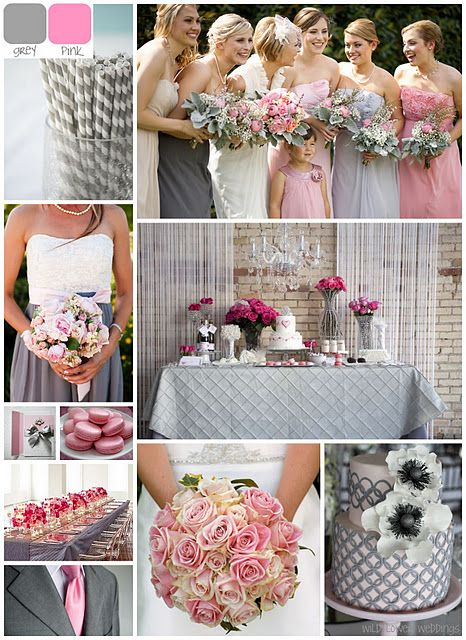 Grey And Pink Wedding Colors