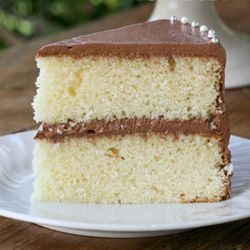 ... Bakery Yellow Cake with Fluffy Chocolate Ganache Frosting. Delicious