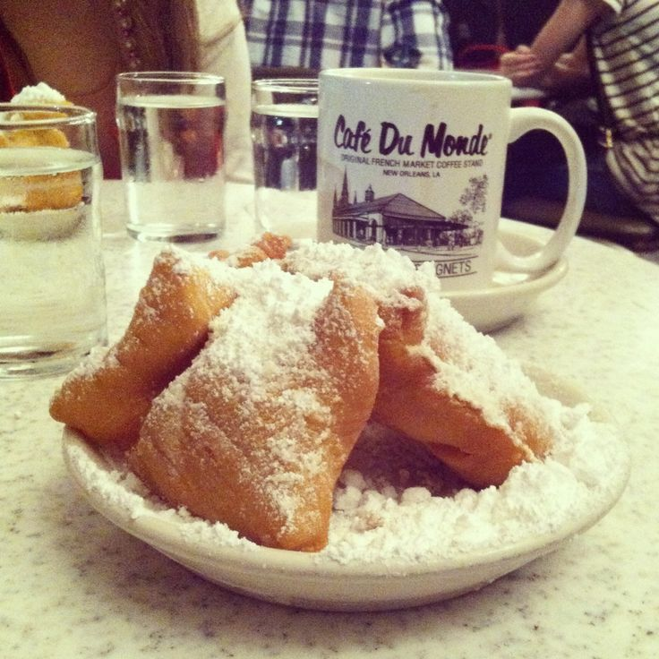 ... French Quarter near Bourbon Street Gotta Stop and try the Beignets