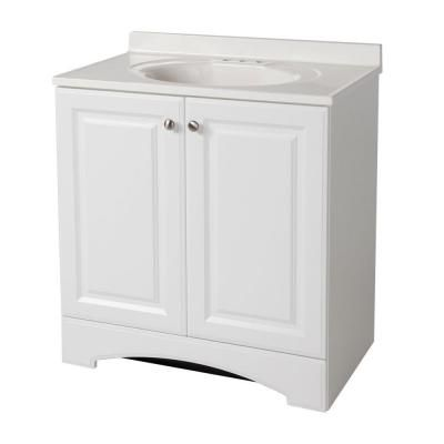 glacier bay 30 1 2 in w vanity in white with cultured marble vanity