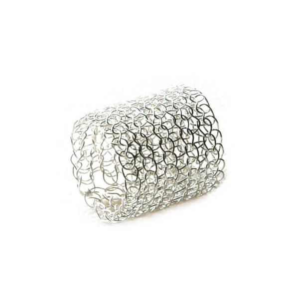 Crocheting Rings : crochet ring, silver - yoola booticca
