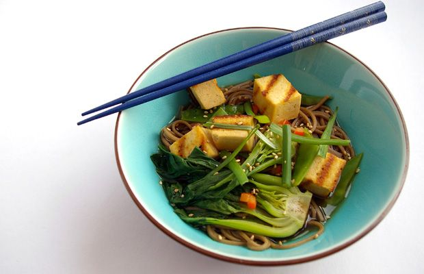 Soba and Tofu in Ginger Broth from Martha Stewart Living's Meatless