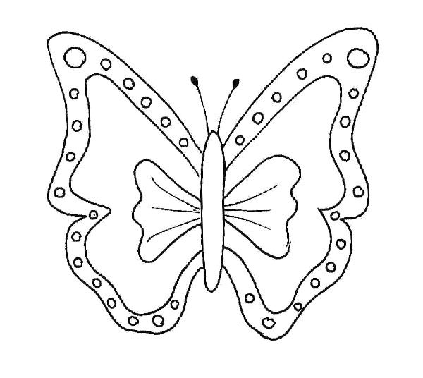 shape butterfly coloring pages - photo#27