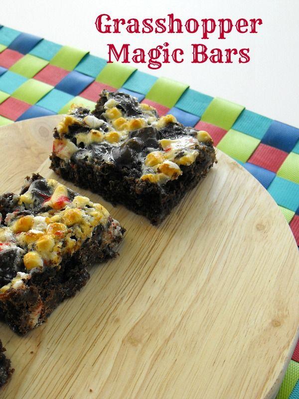 Grasshopper Magic Bars | Recipe