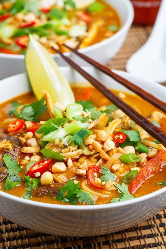 Thai Peanut Chicken Noodle Soup | Recipe