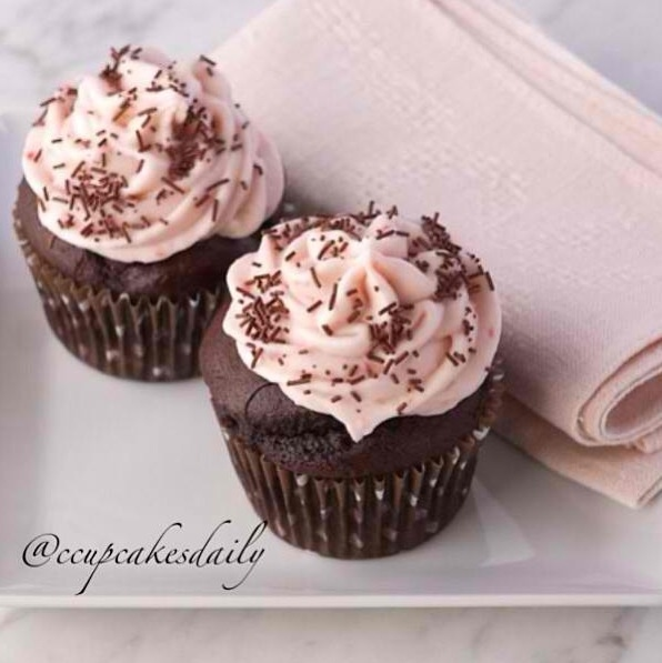 Chocolate Strawberry Banana Cupcakes | Cupcakes | Pinterest