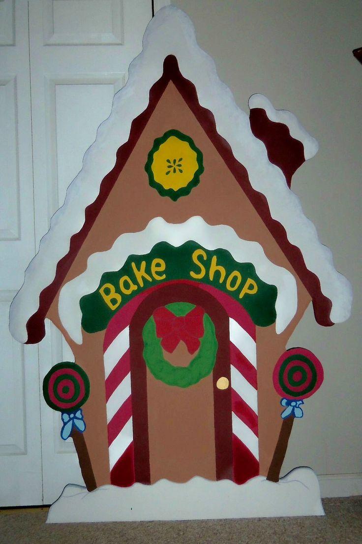 Christmas Bake Shop House Holiday Yard Art Decoration