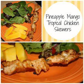 Skinny Jeans: Pineapple Mango Tropical Chicken Skewers