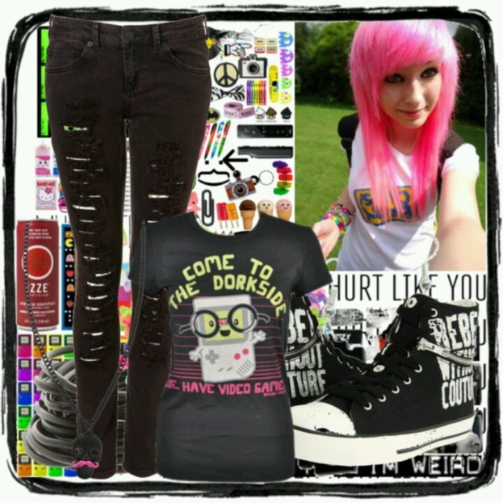 Emo Scene Clothes Punk Boy For Picture