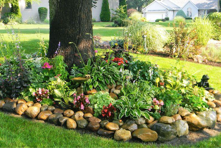 Partial shade garden front yard outdoors pinterest for Partial shade garden designs