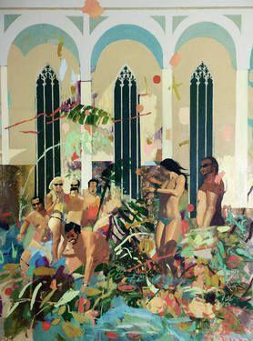 """Saatchi Art Artist Gorkem Dikel; Painting, """"Sunlight Church"""" #art"""