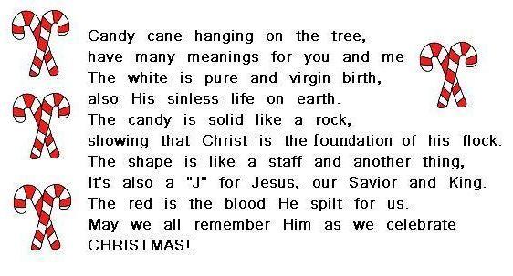 Candy cane poem | An idea for Christmas | Pinterest