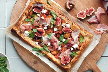 Fig, tomato and prosciutto tart | ☆ S A V O R Y ☆ | Pinterest