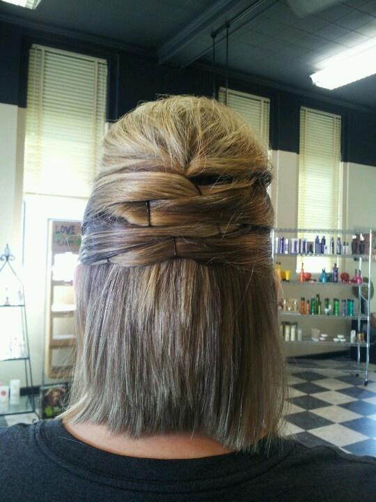 Hairstyles For Short Hair Half Up : Short wedding half updo Hair Pinterest