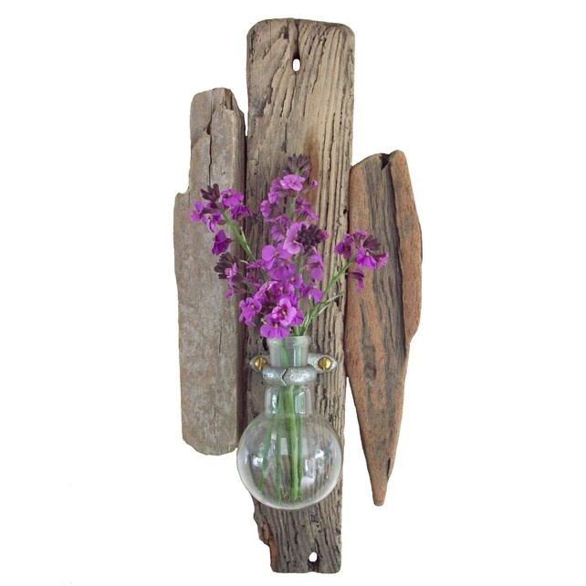 Wall Sconces With Vases : Driftwood & Chemistry Vase Wall Sconce