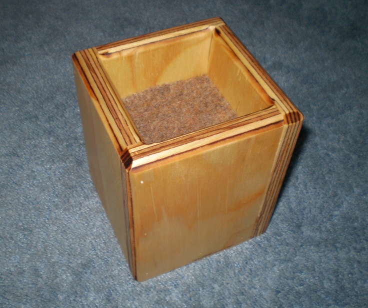 Furniture Risers 4 Inch All Wood Construction Stained Square Desi