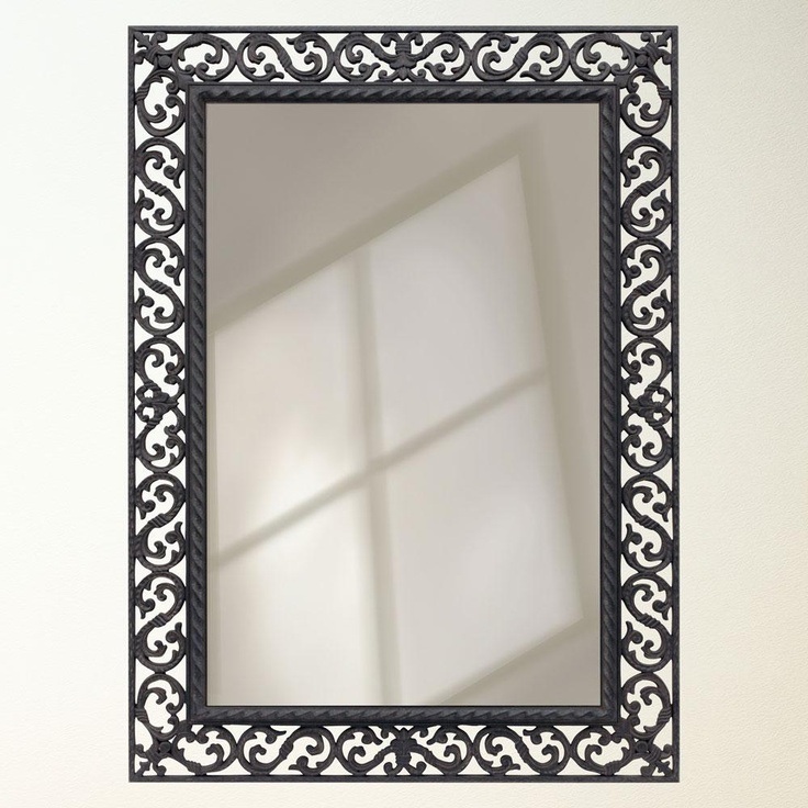 Rustic wrought iron framed mirror our new home pinterest for Wrought iron mirror
