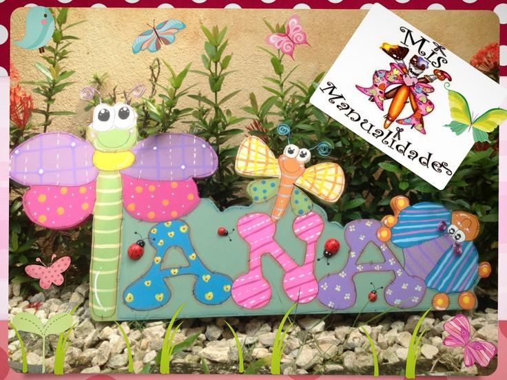 Decoracion Letras Country ~   las ni?as!!!!  Nombres Madera Country Pasta Flexible  Pinterest