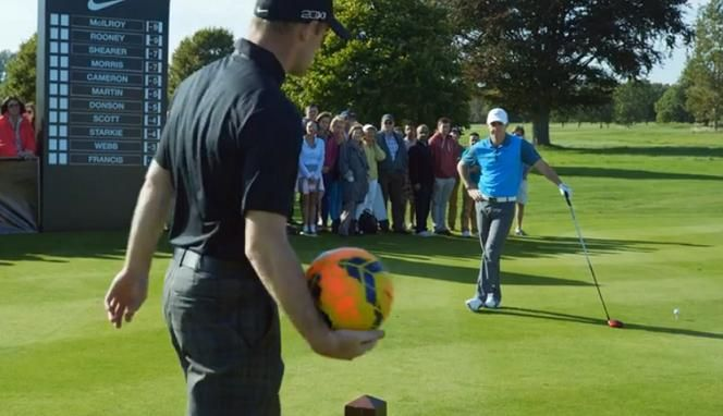 Wayne Rooney Rory Mcilroy Nike Short Pits Wayne Rooney Against Rory McIlroy VIDEO