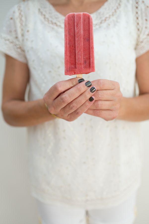 Strawberry Cream Popsicles | dairy | Pinterest