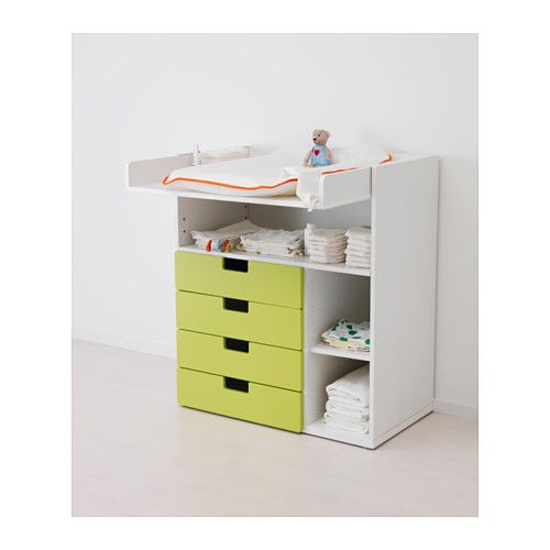STUVA Changing table with 4 drawers - white - IKEA