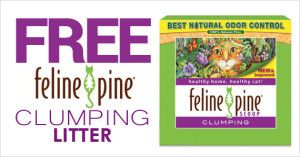 Feline Pine Clumping FREE box of Feline Pine Clumping Litter !