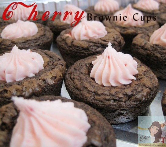 Cherry Brownie Cups