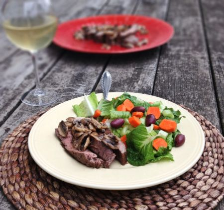 Balsamic Glazed Flank Steak | The Paleo Nurse