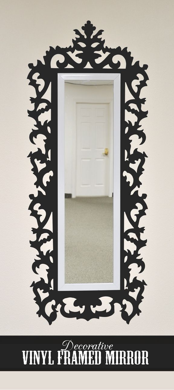 Decorative vinyl framed mirror silhouette vinyl projects for Mirror vinyl