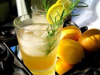 Rosemary Lemon-Ginger Vodka Spritzers |familystylefood|recipe