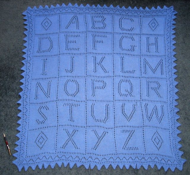 Alphabet Blanket knit