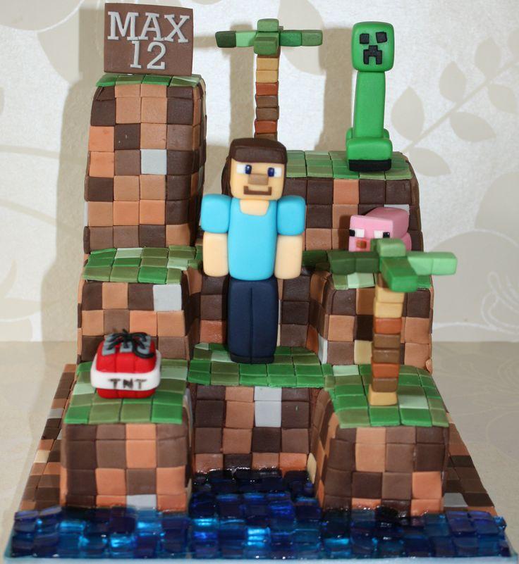 Minecraft Cake Minecraft Party Ideas Pinterest