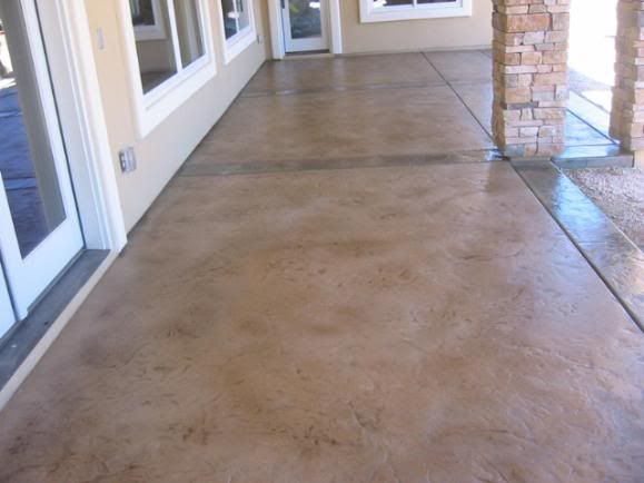 Stained concrete patio for Stained concrete patio pictures
