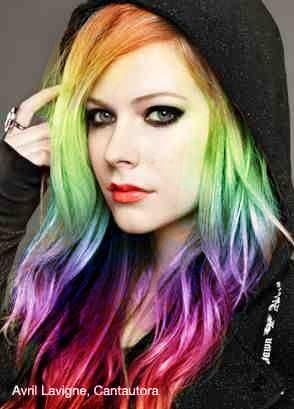 Avril lavigne rainbow hair