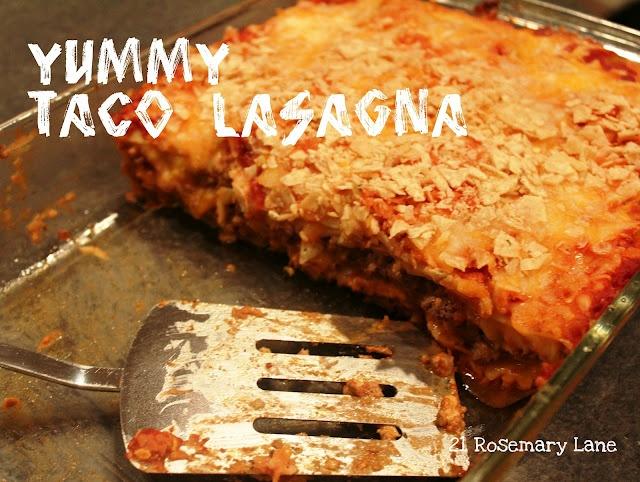 Taco Lasagna | Recipes...YUMMY, YUMMY Food Ideas | Pinterest