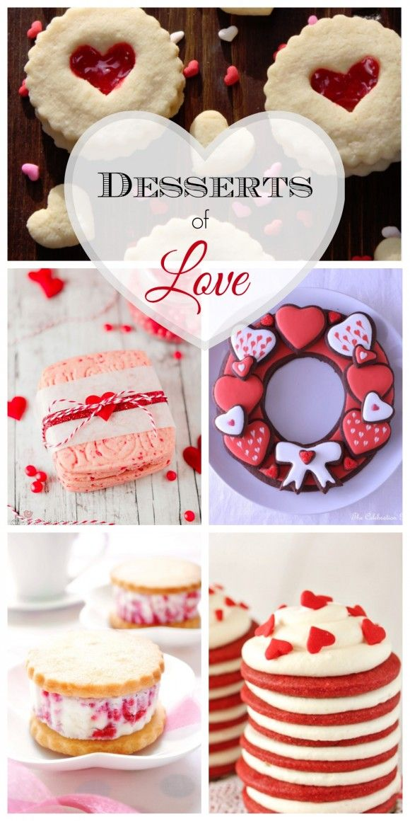 Beautiful Valentine's Day dessert recipes that will make you fall in love! See more party ideas at CatchMyParty.com.