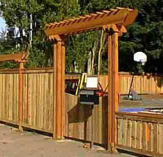 trellis over gate Backyard Fences Pinterest