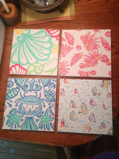 Lilly canvas cute for college dorm room crafts amp ideas pinterest
