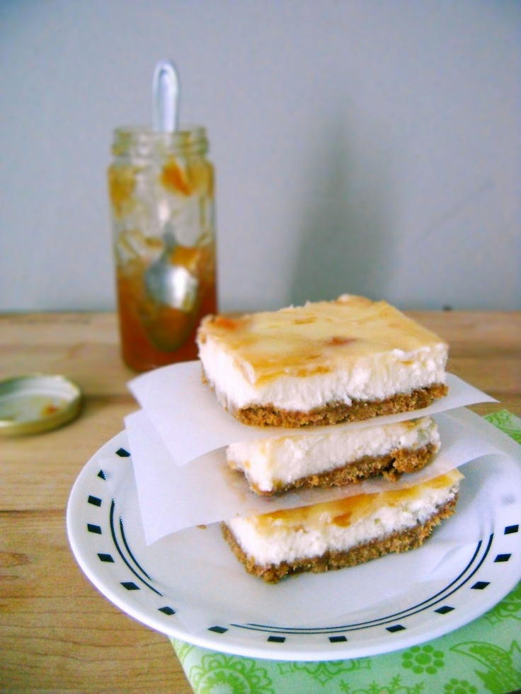 Apricot Cheesecake Bars For Ashley. | Desserts Sarah | Pinterest